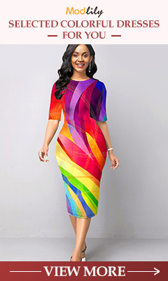 Modlily Selected Colorful Dresses