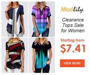 Modlily Clearance Tops Sale: Starting from $7.41!