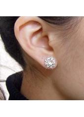 wholesale Shining Round Shape Gemstone Sunflower Female Ear Stud