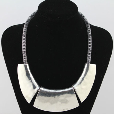 Silver Chain Chunky Choker Necklace
