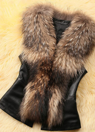 Faux Fur Embellished Vest for Women
