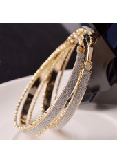 wholesale Fashion Gold Metal Circle Shaped Earrings