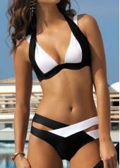 Black and White Two Piece Swimwear