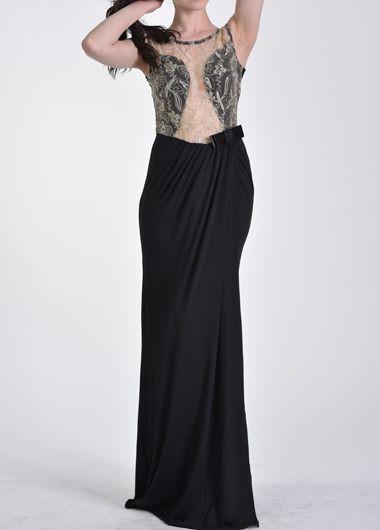 Embroidery Design Open Back Sleeveless Maxi Dress