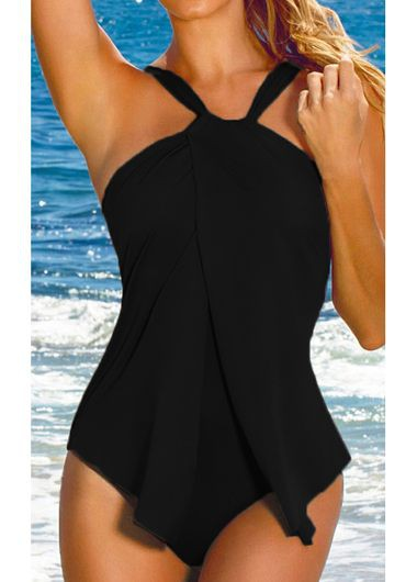 Open Back Padded One Piece Swimwear