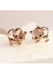 Cute Cat Shape Design Metal Earrings