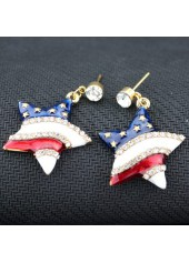 Rhinestone-Decorated-Star-Shape-Design-Earrings