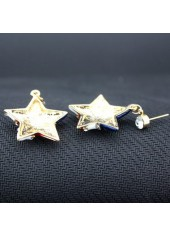 wholesale Rhinestone Decorated Star Shape Design Earrings