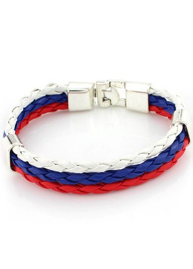 Three Layers Multi Color Braided Bracelet - One Size