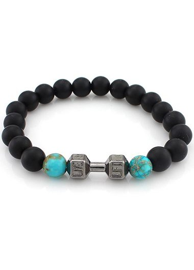 Image of Bead Decorated Black Bracelet for Woman