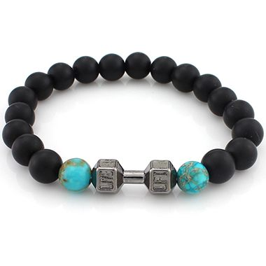 Bead Decorated Black Bracelet for Woman