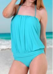 Lake-Blue-Tube-One-Piece-Swimwear