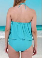 wholesale Lake Blue Tube One Piece Swimwear
