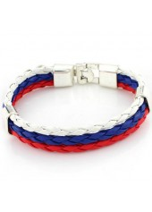 wholesale Three Layers Multi Color Braided Bracelet