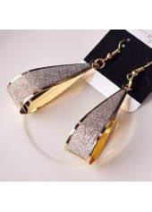 Water-Drop-Design-Matting-Gold-Earrings