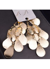 wholesale Woman Metal Fish Scale Embellished Pendant Gold Earrings