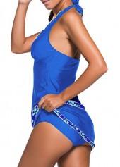 wholesale Halter Neck Top and Royal Blue Pantskirt