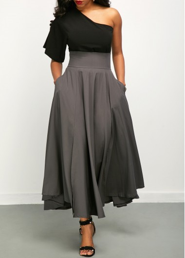 One-Shoulder-Top-and-High-Waist-Belted-Skirt