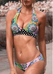 Tie-Back-Printed-Low-Waist-Halter-Bikini