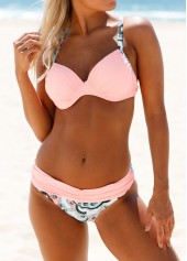 Printed-Criss-Cross-Back-Pink-Bikini-Set