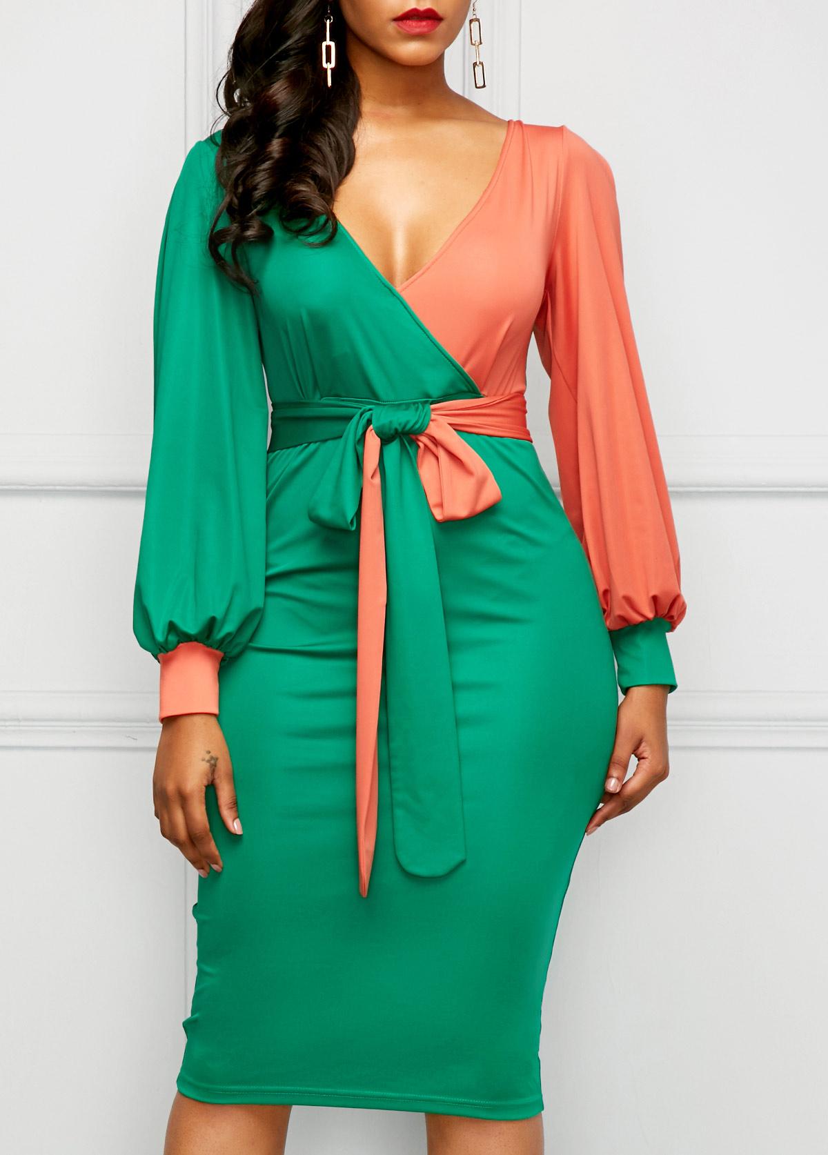 Open jewelry catalog Deep V Neck Plain Long Sleeve Bodycon Dresses lincoln