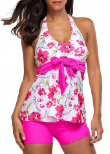 Halter Neck Flower Print...