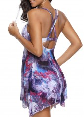 wholesale High Waist Floral Print Swimdress and Shorts