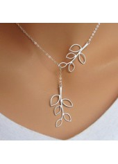Silver Mini Leaf Pendant Necklace