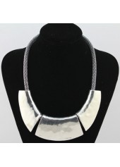 Silver-Chain-Chunky-Choker-Necklace