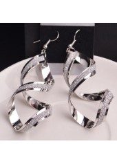 Fashion-Twist-Design-Silver-Metal-Earrings