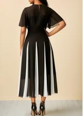 wholesale Patchwork Short Sleeve Round Neck Dress