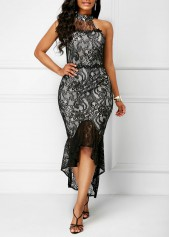 Racerback-Frill-Hem-Lace-Sheath-Dress