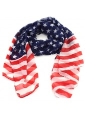 Women-Star-and-Stripe-Print-Scarf