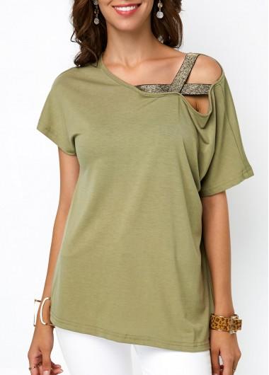 Short Sleeve Army Green T Shirt