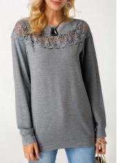 Crochet-Panel-Grey-Marl-Pullover-Sweatshirt