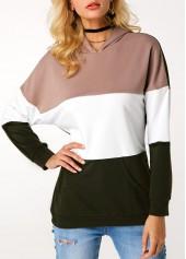 Color-Block-Long-Sleeve-Pullover-Hoodie