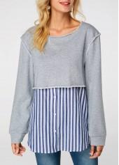Round-Neck-Faux-Two-Piece-Sweatshirt