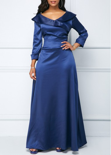 Long Sleeve High Waist Maxi Dress