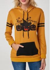 Pumpkin-Lamp-Print-Drawstring-Halloween-Hoodie