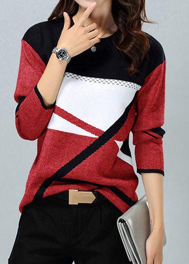 Long Sleeve Round Neck Knitting Sweater