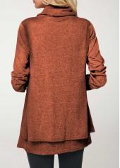4e522ea1512f1 ... wholesale Layered Long Sleeve Cowl Neck Christmas Blouse ...