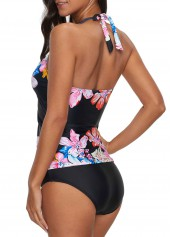 08dfac66d0 Halter Neck Bowknot Detail Tankini Top and Panty   modlily.com - USD ...
