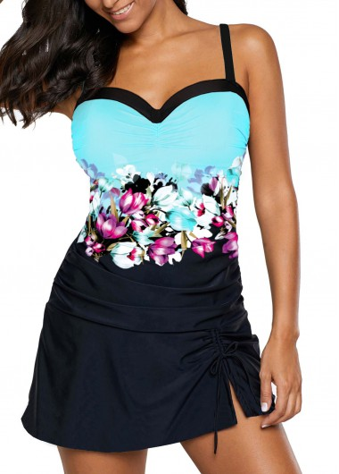 52c5192feab Quick ShopAdded Successfully. Drawstring Side Sweetheart Neckline Swimdress  and Panty