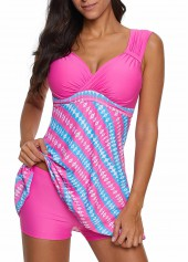 Wide-Strap-Printed-Padded-Swimdress-and-Shorts