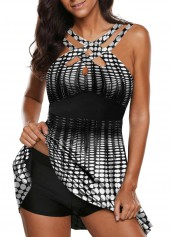 Strappy-Front-Dot-Print-Swimdress-and-Shorts