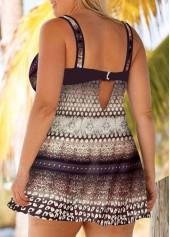 32e3b51385 Plus Size Keyhole Back Printed Swimdress and Shorts | modlily.com ...