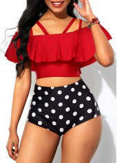 Ruffle-Overlay-Swimwear-Top-and-Polka-Dot-Print-Panty