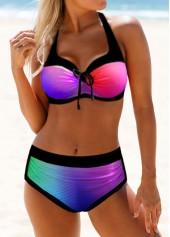 Cross-Strap-Bowknot-Detail-Dazzling-Bikini-Set