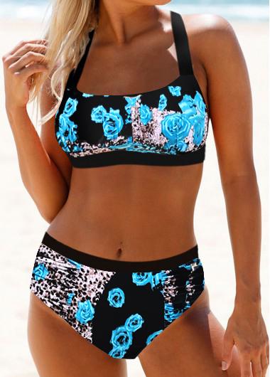 Tie Back Leopard Print Bikini Set