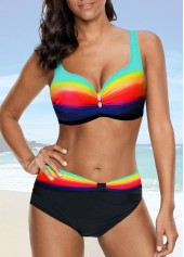 Strappy-Dazzle-Color-High-Waist-Bikini-Set